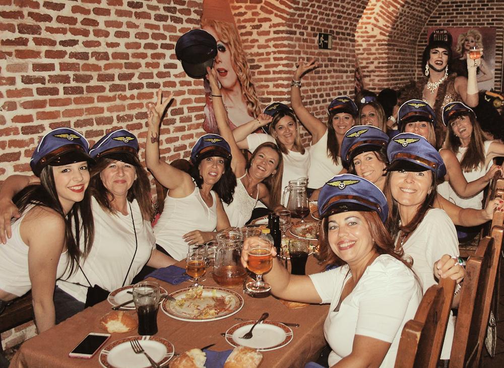 Cenas despedida de soltera Madrid